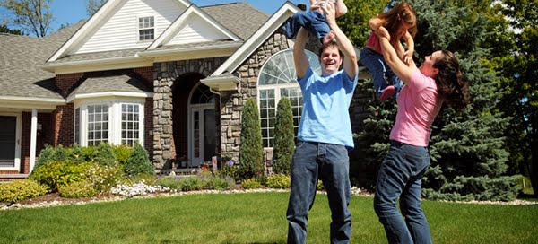 New Home Owners Celebrating with Their Family