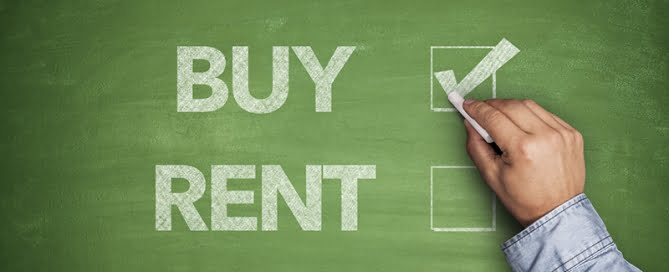 Buy or Rent on a Chalkboard